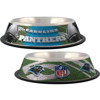 Carolina Panthers Stainless Steel NFL Dog Bowl