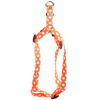 Tangerine Polka Dot Step-In Dog Harness