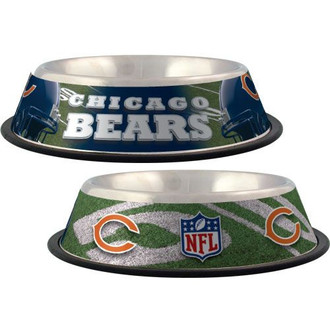 Chicago Bears Stainless Steel NFL Dog Bowl
