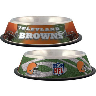 Cleveland Browns Stainless Steel NFL Dog Bowl