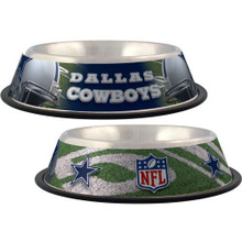 Dallas Cowboys Stainless Steel NFL Dog Bowl