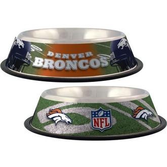 Denver Broncos Stainless Steel NFL Dog Bowl