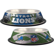 Detroit Lions Stainless Steel NFL Dog Bowl