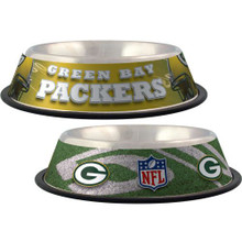 Green Bay Packers Stainless Steel NFL Dog Bowl