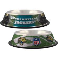 Jacksonville Jaguars Stainless Steel NFL Dog Bowl
