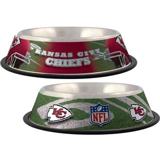 Kansas City Chiefs Stainless Steel NFL Dog Bowl