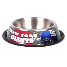 N.Y. Giants Stainless Steel NFL Dog Bowl