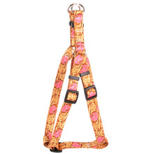 Leather Rose Pink Step-In Fabric Dog Harness