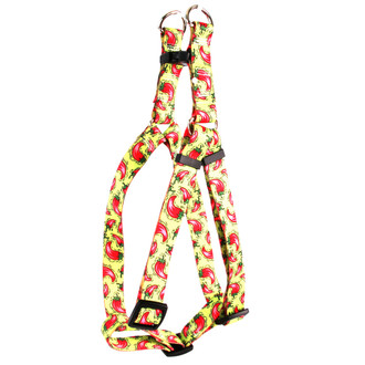 Hot Peppers Step-In Dog Harness