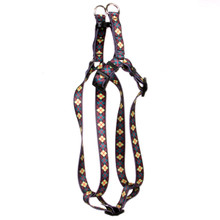 Green Argyle Step-In Dog Harness