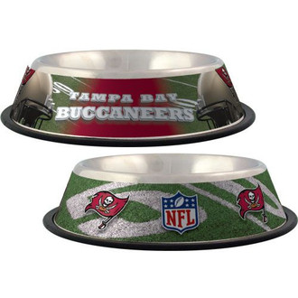 Tampa Bay Buccaneers Stainless Steel NFL Dog Bowl