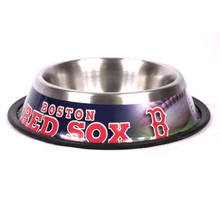 Boston Red Sox Stainless Steel MLB Dog Bowl