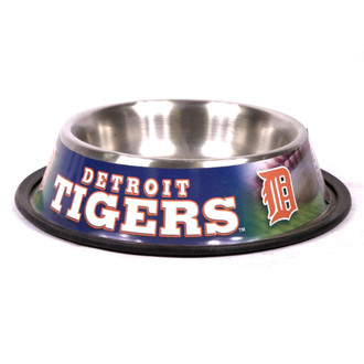 Detroit Tigers Stainless Steel MLB Dog Bowl