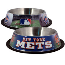 New York Mets Stainless Steel MLB Dog Bowl