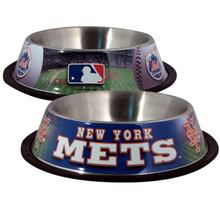New York Mets Stainless Steel MLB Dog Bowl