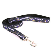 Baltimore Ravens Premium Grosgrain Dog Leash