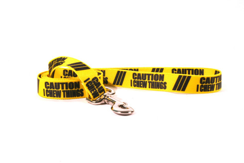 Caution I Chew On Things Dog Leash