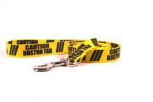 Caution Boston Fan Dog Leash