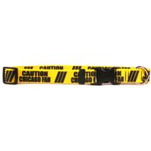 1 Inch - Caution Chicago Fan Dog Collar
