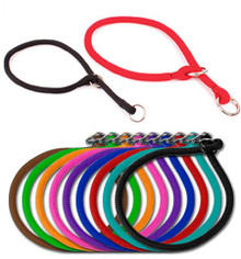 Rolled Round Braided Rope Training Dog Collar