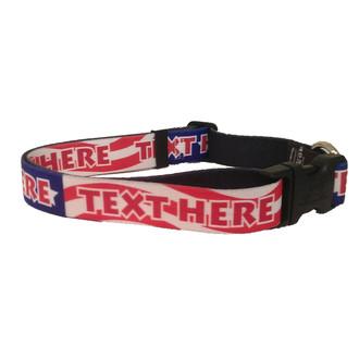 Personalized US Flag Americana Dog Collar