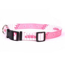 Chicago Cubs PINK Dog COLLAR