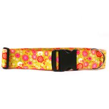 2 Inch Wide Green Bouquet Dog Collar