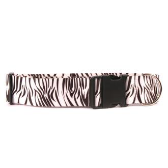 2 Inch Wide Black Zebra Dog Collar