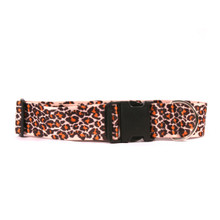2 Inch Wide Leopard Skin Dog Collar