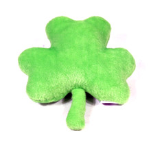 Irish Shamrock Squeaker Dog Toy