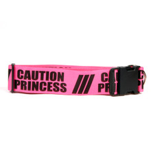 2 Inch - Caution Princess Dog Collar