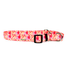 Pink Elephants Martingale Dog Collar