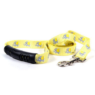 Yellow Elephants EZ-Grip Dog Leash
