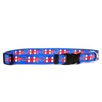 Buffalo Bills Argyle Dog Collar