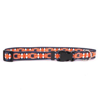 Chicago Bears Argyle Dog Collar
