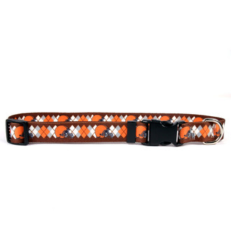 Cleveland Browns Argyle Dog Collar