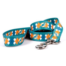 Miami Dolphins Argyle Dog Leash