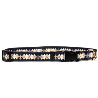 New Orleans Saints Argyle Dog Collar