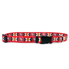 San Francisco 49ers Argyle Dog Collar