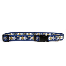 St. Louis Rams Argyle Dog Collar