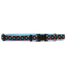 Gumballs on Light Blue Grosgrain Ribbon Collar
