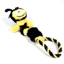 Rope Ring Bumble Bee Elastic Dog Toy