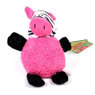 Big Belly Plush Zebra Squeaker Dog Toy