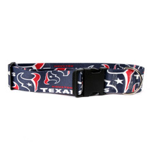 Houston Texans 2 Inch Wide Dog Collar