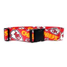 Kansas City Chiefs 2 Inch Wide Dog Collar