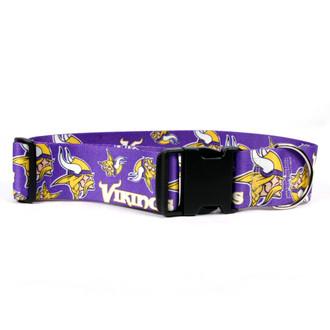Minnesota Vikings 2 Inch Wide Dog Collar