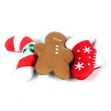 Holiday Plush Squeaker Dog Toy - 3 PACK