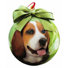Beagle Glossy Round Christmas Ornament **CLEARANCE**