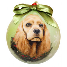 Cocker Spaniel Glossy Round Christmas Ornament **CLEARANCE**