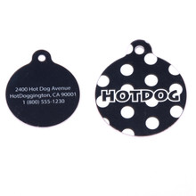 Black Polka Dot HD Pet ID Tag